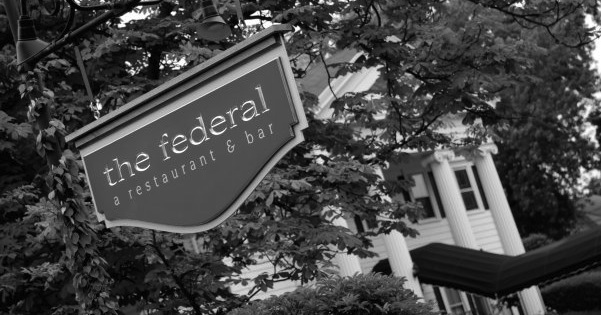 This is a photo of the exterior of The Federal with The Federal Sign.