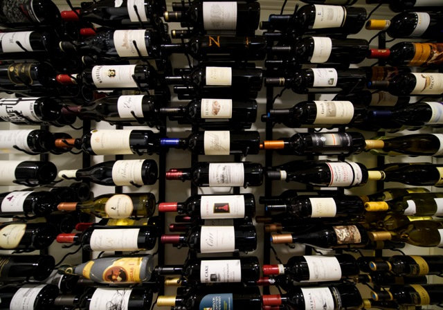 This is a photo of the various wines that the Federal Carries.